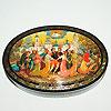 Мстерская расписная шкатулка, ручная роспись мастеров Мстеры