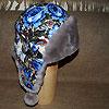 шапка ушанка из павлопосадского платка