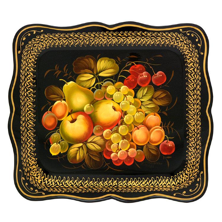 Поднос с фруктами рисунки