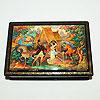 Мстерская расписная шкатулка, ручная роспись мастеров Мстеры, фотография 13