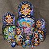 жостовские подносы купить в магазине русских сувениров, фотография 19