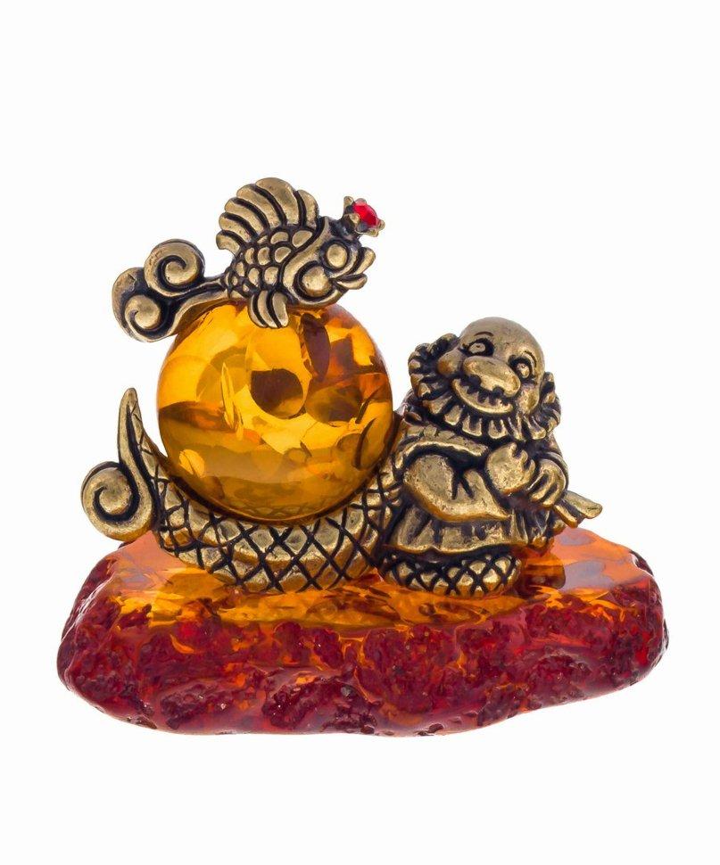 Купить Янтарь Изделия янтаря Золотая рыбка и старик, янтарь