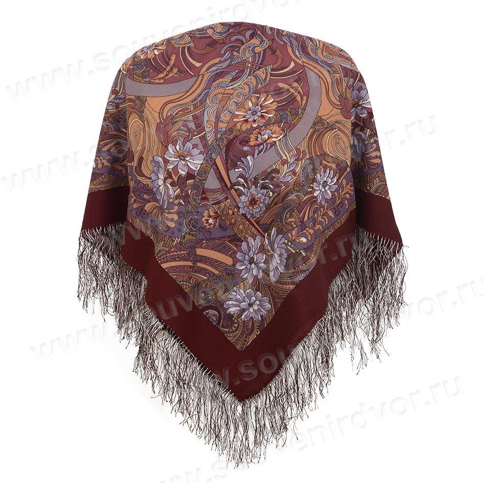 павлопосадский платок жемчужные росы
