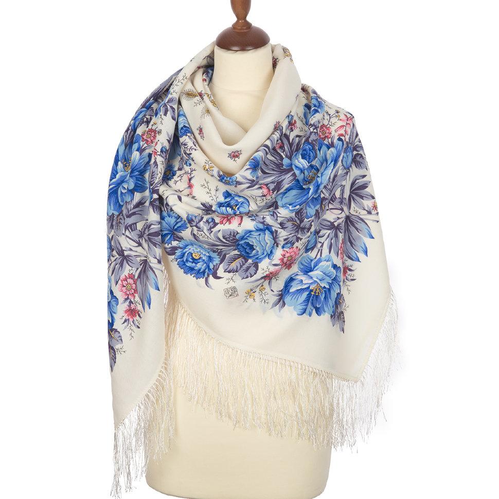 павлопосадский платок донские зори бордовый