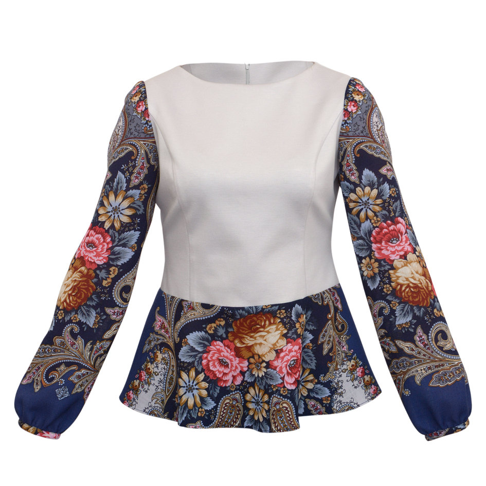 блузки из павлопосадских платков фото