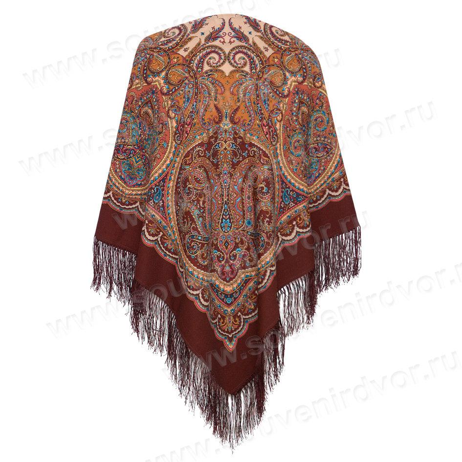 павлопосадский платок ночная серенада-17